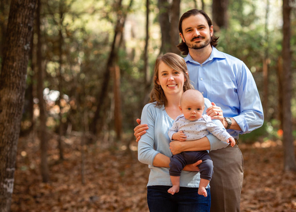 outdoor family portrait session raleigh nc